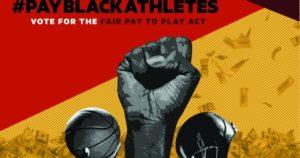 pay black athletes flyer